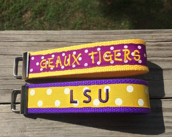 Team Key fob Wristlet, Key Fob Wristlets, Personalized Key Fob Wristlet, Sports Themed Key Fob Wristlet, College Key Fob Wristlet
