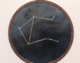 Libra Constellation Hand Embroidered Wall Hanging * Astrology Constellation *