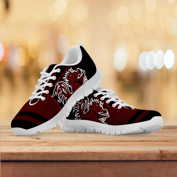 White Sizes Black South Trainers Shoes Gift Running Kids Womens Sneakers Mens Custom Carolina Gift Collector Gamecocks PwqP1crxvz