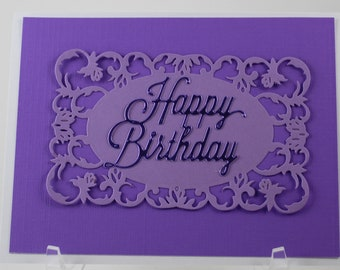 Ultra Violet Birthday Card