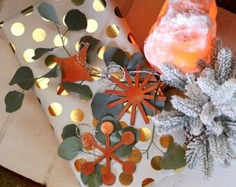 Copper Modern Ornament Christmas Gift Set