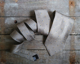 Vintage silk tie Hugo Boss made in Italy