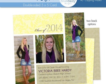 5x5 Graduation Announcement (Victoria) - Photographer Template