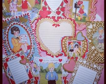 Eintagsfliegen Packung, viktorianischen Valentines, Vintage Style Ephemera Pack sterben Schnitt Akzente