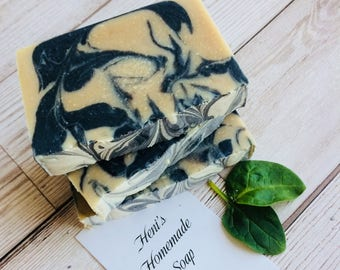 Charcoal Clay Soap, Acne Soap, Handmade Goat Milk Soap, Homemade Bar Soap, Detox face soap, Cold Processed, Glycerine soap, Black Soap, UK
