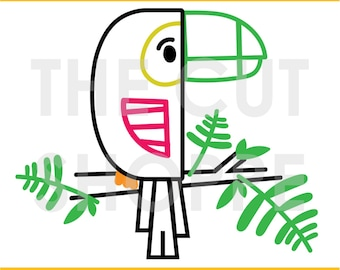 The Tropical Toucan cut file can be used for your scrapbooking and papercrafting projects.