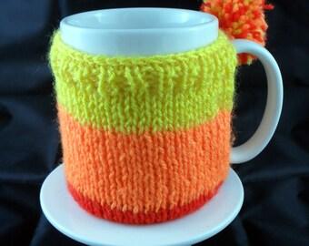 Handmade Knitted Firefly/Serenity Jayne Hat Inspired Mug Warmer/Mug Hug with base