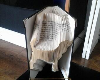 Beagle Book Folding Pattern** and Tutorial Book Art Folding Pattern Wedding Present