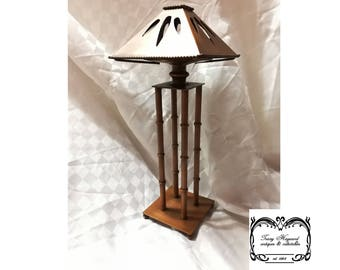 Copper tealight stand and shade Vintage Hand made Exc Cond.