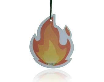 EmojiFresh Fire Emoji Car Air Freshener (3 Pack) - Cherry Scent