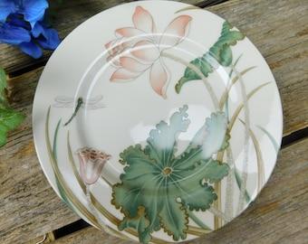 """Set of 4 Vintage """"Lotusland"""" Fitz and Floyd Salad Dessert Plates"""