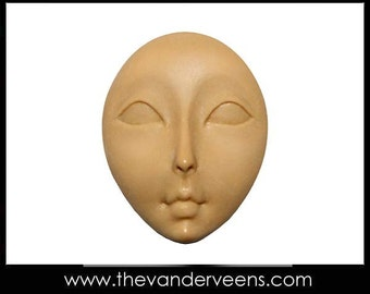 Mold No.114 ( Face - Flater with  opened  Big eyes) by Veronica
