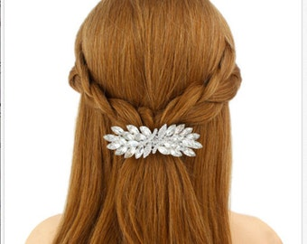 Winter hair accessories, Bridal barrette, Winter Wedding, christmas hair accessory Snowflake barrette hair clip hairclip