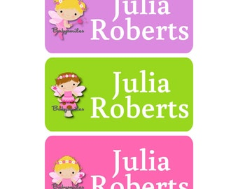 CLOTHING TAG Labels Clothing Label Laundry Safe Peel and Stick Laundry Care Tag Labels Daycare Label Uniform Labels - Fairy Girl