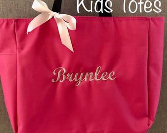 Zippered Kids Bag,Personalized Kids Tote Bag, Kids Tote, Kids Bag,Tote Bag,Book Bag,Personalized Tote Bag,Beach Bag