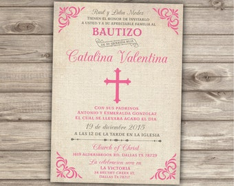 Siblings Spanish Printable Baptism Invitations Brothers
