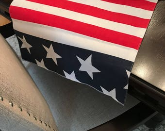4th of July Table Runner | Patriotic Table Runner | Patriotic Table Decor