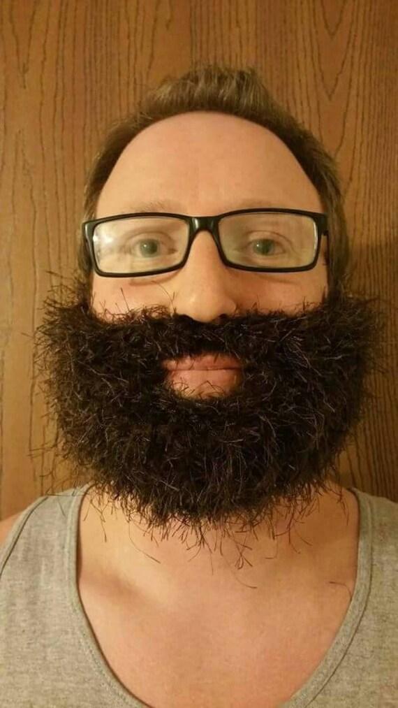 Fake Beard, Costume Beard, Cosplay Beard, Adult Beard, Halloween Beard, Lumberjack Costume, Crochet, Knit Beard