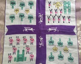 Vintage Tammis Keefe Handkerchief Hanky London Royalty