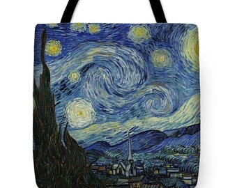 The Starry Night Tote Bag, Purse, Gym, Groceries, School, Picnic, Vacation, Beach, Carry All,