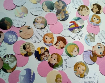 100 Disney princess Sofia confetti Table Hearts table Confetti Kids Party Wedding baby shower christening crafts Decorations