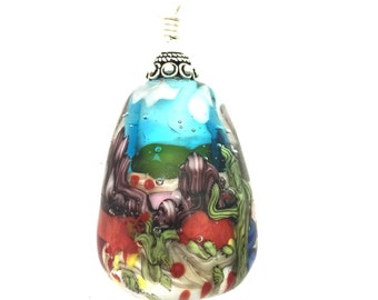 Lamp Work Pendant by Patti Walton