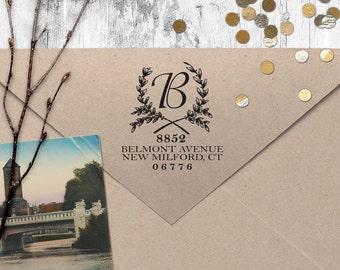 "Return Address Stamp, Vintage Address Stamp, Housewarming Gift, DIYer Gift, Wedding Gift. Custom Address Stamp 2"" x 2"" - A58"