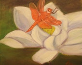 LOTUS AND DRAGONFLY, 12 X...
