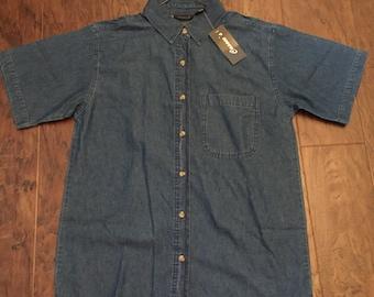 Vintage Short Sleeve Denim Shirt