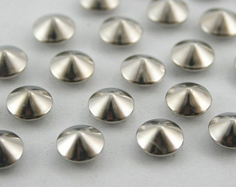 100 pcs Silver Cone Rivets Studs Decorations Findings 8 mm. CO RV 0251