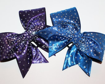 STUNNING Rhinestone Allstar Cheerleading Hairbow - Tons of Bling !
