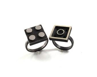 2×2 Interlocking Ring Set - Building Block Collection