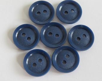 Cute button * dark blue resin (set of 5)