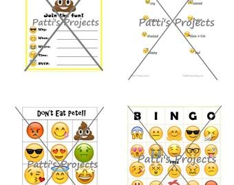 Emoji Party Games Bundle - Digital Download