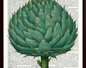 Artichoke Poster, Kitchen Wall Decor, Artichoke Print, Kitchen Art, Vegetables Art Print, Kitchen Decor, Kitchen Poster