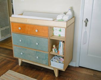 Mid Century Modern Dresser | Changing Table