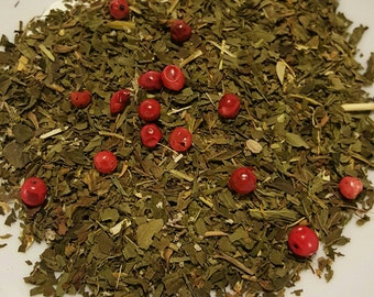 Jack Frost's Nip - Organic Tea, Loose Leaf Tea, Herbal Tea, Peppermint Tea, Spearmint, Pink Peppercorns, Winter Tea, Organic Mint Tea, Vegan