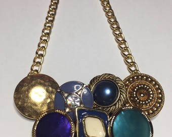 Vintage Necklace with vintage buttons