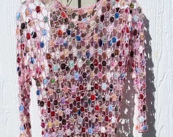 Crochet and beaded top