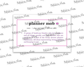 Vocab Word- Planner Mob
