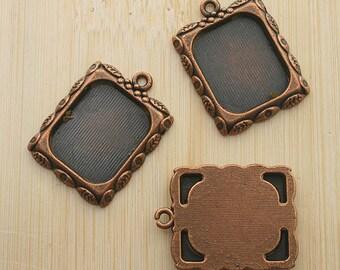 10pcs 20x17mm copper-tone picture frame charm G465