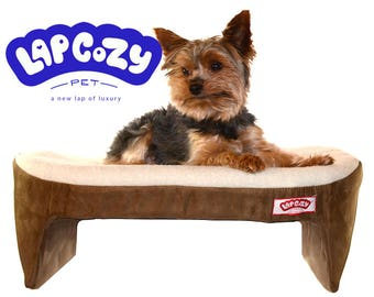 Lap Cozy pet bed. A new lap of luxury for small dogs, cats and other small pets - base made in USA