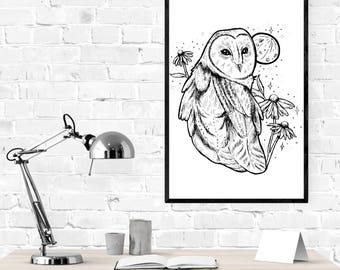 Night Owl - Print