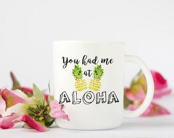 Aloha Coffee Mug, Funny Coffee Mug, Coffee Mug, Hawaii Coffee Mug, Birthday Gift, Wedding Gift, Grooms Gift, Anniversary Gift, Cute Mug