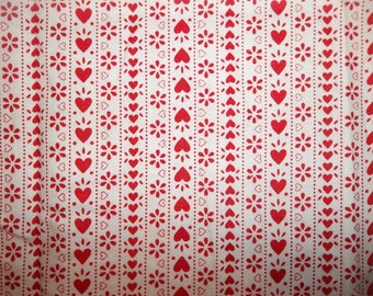 Won't You Be My Valentine? 100% Cotton Fabric CR #1
