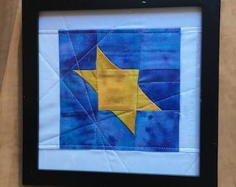 Batik Golden Star - Framed Art