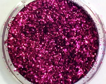 Berryliscious Glitter No 80 - 3ml pot nail art crafting burgundy wine