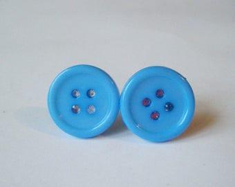 ♥♥♥♥ Bud earrings sky blue ♥