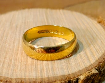 Antique 22K yellow gold band made in 1989
