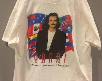 Vintage 1995 Yanni world tour shirt